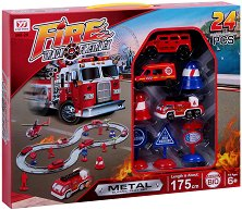 Писта - Противопожарен екип - Комплект с колички -