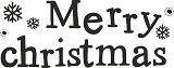 Гумен печат - Merry Christmas - Размери 2 х 5.1 cm