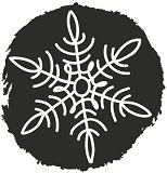 Гумен печат - Ice Crystal - Диаметър 3.2 cm