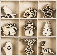 Дървени фигурки - Коледа