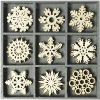 Дървени фигурки - Снежинки