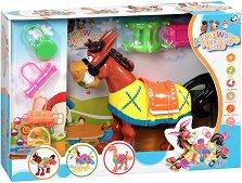 Конче с аксесоари - Детска играчка със звуков и светлинен ефект -