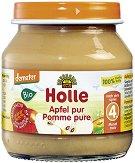 Holle - Био пюре от ябълки - Бурканче от 125 g за бебета над 4 месеца - пюре