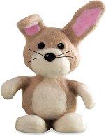 """Направи сам играчка от вълна - Зайчето Lapin - Творчески комплект от серията """"Fuzzeez"""" -"""