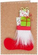 Поздравителна картичка - Ботуш с подаръци -
