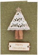 Поздравителна картичка - Коледно дръвче -