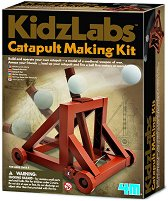 """Направи сам - Катапулт - Детски образователен комплект от серията """"Kidz Labs"""" - играчка"""