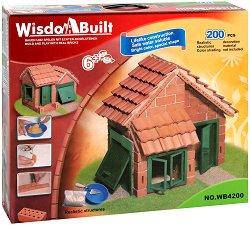 """Къща с гараж - Детски сглобяем модел от серията """"Wisdom Built"""" -"""