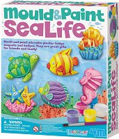 """Направи сама гипсови магнити - Морско дъно - Творчески комплект от серията """"Mould & Paint"""" - образователен комплект"""