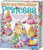 """Направи сама гипсови магнити - Блестящи принцеси - Творчески комплект от серията """"Mould & Paint"""" - творчески комплект"""