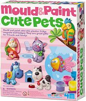 """Направи сам гипсови магнити - Домашни любимци - Творчески комплект от серията """"Mould & Paint"""" -"""