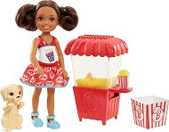 """Челси с кученце и машина за пуканки - Мини кукла с аксесоари за игра от серията """"Barbie"""" -"""