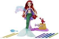 """Ариел - Кичури за коса от панделки - Кукла с аксесоари от серията """"Принцесите на Дисни"""" -"""