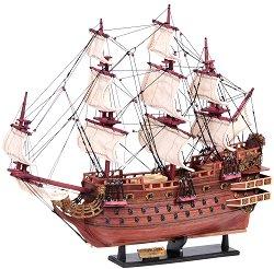 Флагман - Soleil Royal - Декоративен кораб от дърво -