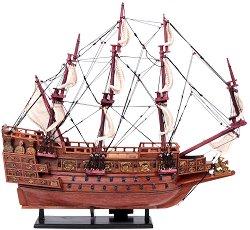 Суверенът на моретата - Декоративен кораб от дърво -