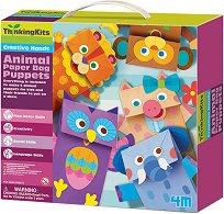 """Направи сам - Хартиени играчки за куклен театър - Творчески комплект от серията """"Thinking Kits"""" - играчка"""