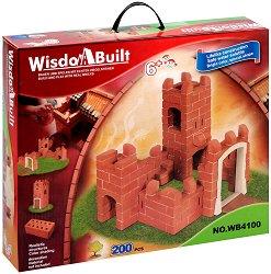 """Замък - Детски сглобяем модел от истински тухлички от серията """"Wisdom Built"""" -"""
