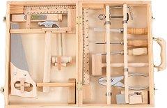 Детски дървени инструменти в куфарче - Комплект за игра -