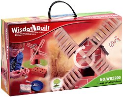 """Вятърна мелница - Детски сглобяем модел от истински тухлички от серията """"Wisdom Built"""" -"""