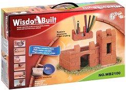 """Къща на плажа - Детски сглобяем модел от истински тухлички от серията """"Wisdom Built"""" -"""