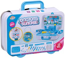 Лекарски кабинет - Детски комплект за игра в куфарче с колелца -