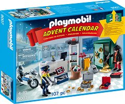 """Коледен календар - Полицейска акция - Детски конструктор от серията """"Коледа"""" -"""