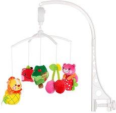 Музикална въртележка - Плодчета - Играчка за бебешко креватче -