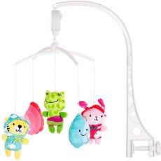 Музикална въртележка - Животинчета - Играчка за бебешко креватче -