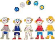 """Облечи подходящо героите - Образователен комплект с магнити от серията """"Les Popipop"""" - играчка"""
