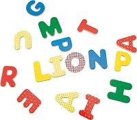 """Магнитни английски букви - Образователен комплект от серията """"Les Popipop"""" -"""