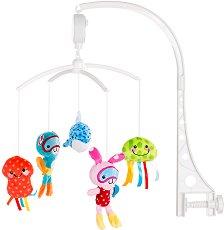 Музикална въртележка - Морски свят - Играчка за бебешко креватче -