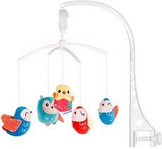 Музикална въртележка - Сладки бухали - Играчка за бебешко креватче -