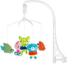 Музикална въртележка - Малки плувци - Играчка за бебешко креватче -