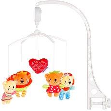 Музикална въртележка - Диви Приятели - Играчка за бебешко креватче -