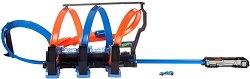"""Писта с изстрелвачка - Corkscrew Crash - Комплект с количкa от серията """"Hot Wheels"""" - играчка"""