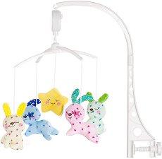 Музикална въртележка - Малки зайчета - Играчка за бебешко креватче -