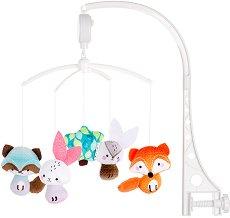 Музикална въртележка - Горски приятели - Играчка за бебешко креватче -