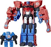 """Hi-Test и Optimus Prime - 2 комбиниращи се фигури за игра от серията """"Transformers: Combiner Force"""" -"""