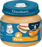 Nestle Gerber - Пюре от пилешко месо - Бурканче от 80 g за бебета над 6 месеца - пюре