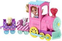 """Челси с влакче - Комплект за игра с аксесоари от серията """"Barbie: Club Chelsea"""" - кукла"""
