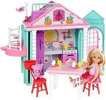 """Къщата на Челси - Комплект за игра с аксесоари от серията """"Barbie: Club Chelsea"""" -"""