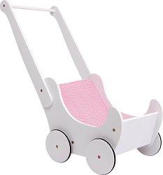 Дървена количка за кукли - Детска играчка - играчка