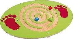 Дъска за балансиране с топчета - Лабиринт - Детски дървен комплект за игра -