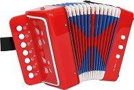 Акордеон със 7 клавиша - Детски музикален инструмент -