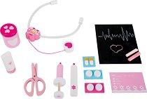 Лекарски инструменти - Детски дървен комплект за игра -