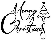 Гумен печат - Merry Christmas - Размери 5 х 7.5 cm