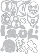 Щанци за машина за изрязване и релеф - Cool Yule - Комплект от 24 броя с размери от 0.6 до 5.7 cm