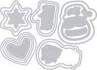 Щанци за машина за изрязване и релеф - Коледни сладки - Комплект от 19 броя с размери от 0.3 до 7.3 cm
