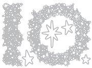 Щанци за машина за изрязване и релеф - Snowy Stars - Комплект от 6 броя с размери от 1.3 до 11 cm