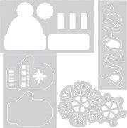 Щанци за машина за изрязване и релеф - Зима - Комплект с папка за ембосинг